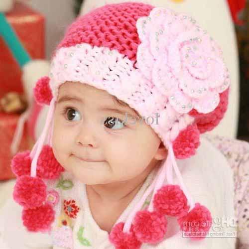 مدل کلاه و شال گردن بافتنی بچه گانه دخترانه