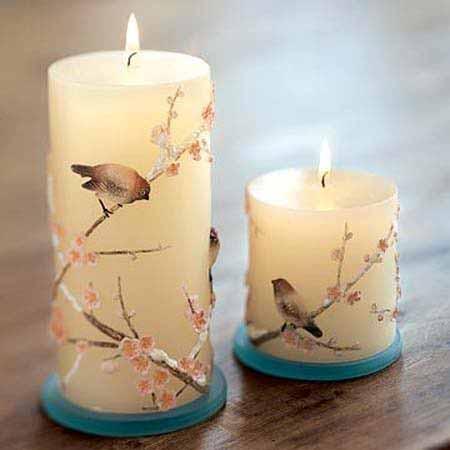 تزیین شمع با نگین اتریشی زیباترین تزئینات و مدل های شمع - Delkhoshi.com