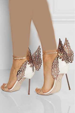 کفش های شیک و مجلسی جدید زنانه مدل بال فرشته - Delkhoshi.comمدل کفش عروس، کفش زنانه جدید طرح بال فرشته
