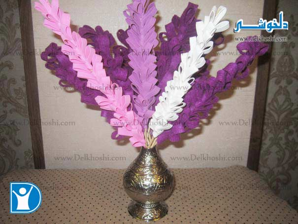 ساخت گل سنبل مصنوعی برای سین سفره هفت سین