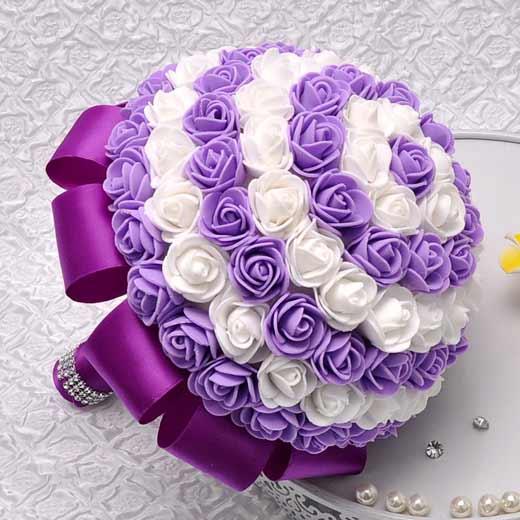 تزیین با تور ساتن زیباترین مدل های دسته گل پارچه ای عروس - Delkhoshi.com