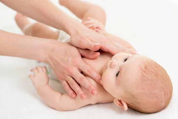 ماساژ کودک، مراحل ماساژ نوزاد